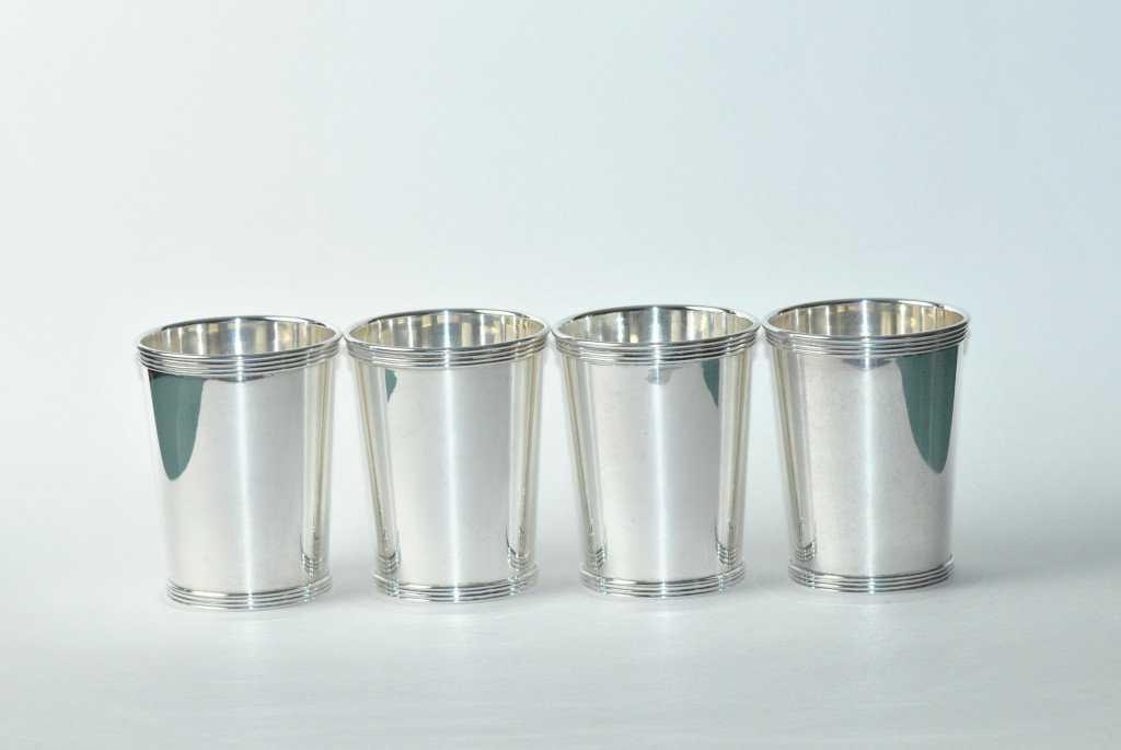4 Kentucky Derby Mint Julep Cups Sterling Silver By International