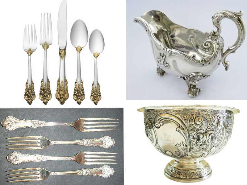 Antique Silver Plated Silverware Amp Shiny Hammered Flatware