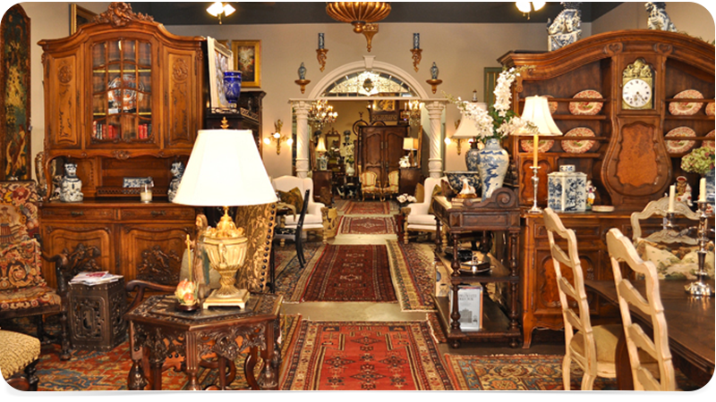 Stores that sell antiques other dresses dressesss for Vintage furniture dealers